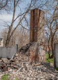Building and destruction. Destroyed buildings and structures sad look Royalty Free Stock Photography