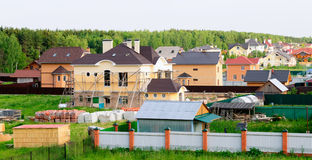 Building of detached houses Stock Photos