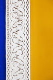 Building detail at the Jardin Majorelle in Marrakesh Stock Photos