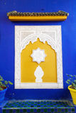 Building detail at the Jardin Majorelle in Marrakesh Royalty Free Stock Photography