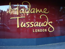 The Building detail of Madame Tussauds in London royalty free stock photo