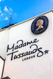 Building detail of Madame Tussauds on Marylebone Road in London royalty free stock photo