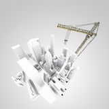 Building development concept. Abstract 3d of building development concept stock illustration