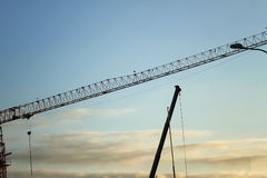 Building Development: Crane Royalty Free Stock Photo