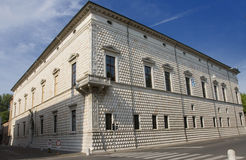 Building of Diamonds. Famous building in Ferrara, Italy, called Building of Diamonds. Today is a museum Stock Photo