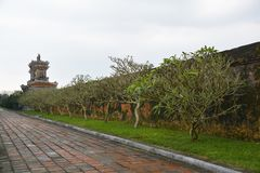 Building in Dien Tho Residence. A building within the Dien Tho Residence in the Imperial City, Hue, Vietnam Stock Photo