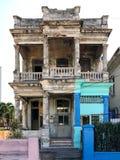 Building in Disrepair - Havana, Cuba. Typical building in various degrees of  disrepair in Vedado, Havana, Cuba Stock Image