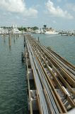 Building A Dock. Dock being built at a local marina after the hurricane in Florida Stock Photos