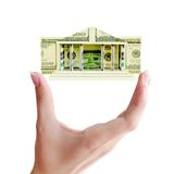 Building of dollar bills Royalty Free Stock Images