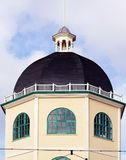 Building with dome. Octagonal shaped building with dome and turret in Worthing Sussex Stock Photos