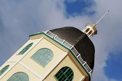 Building with dome. Octagonal shaped building with dome and turret in Worthing Sussex Royalty Free Stock Photography