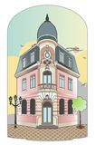 Building with dome. Vector file of a vintage building, Eps 8 file Vector Illustration