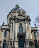 The building of the Dominican Cathedral in Lviv. 2015 Stock Photography