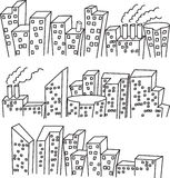 Building doodle Royalty Free Stock Images