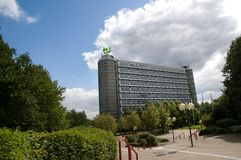 Building Dortmund University's Mathetower Royalty Free Stock Image