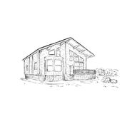 Building drawing. ( pencil sketch Stock Photos