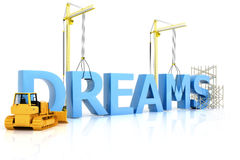 Building dreams. Making change with constructive results Stock Images