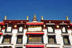 Building in Drepung Monastery Royalty Free Stock Images
