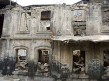 Building after earthquake, Gyumri, Armenia Royalty Free Stock Photos