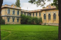 Building in east style. Building Narzan baths in Kislovodsk. Russia, North Caucasus Stock Photo