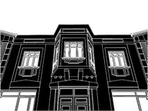 Building Eclectic House Vector 05 Stock Photo