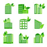 Building eco icon Stock Photos