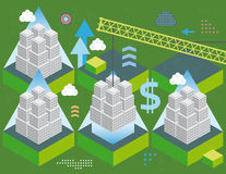 Building economy sector royalty free illustration