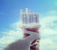 Building on the edge Royalty Free Stock Image