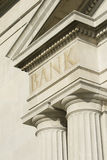 Building Edifice With BANK Engraving. Stock Photos