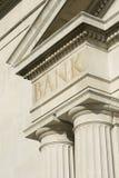 Building Edifice With BANK Engraving. Stock Photos