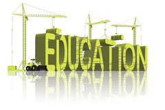 Building education learn knowledge go to school Stock Images
