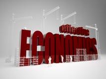 Building effective economics. High quality 3d render. Building effective economics Stock Images