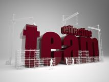 Building effective team. High quality 3d render. Building effective team stock image