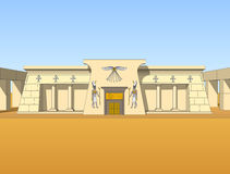 Building in Egyptian style Stock Photography