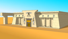 Building in Egyptian style, right side view Stock Image