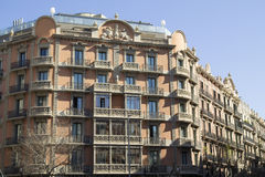 A building of Eixample quarter Royalty Free Stock Image