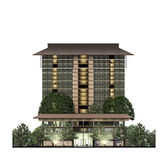Building Elevation, architecture, hotel Royalty Free Stock Photography