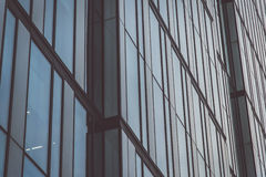 Building elevation. With reflections at evening Royalty Free Stock Photos