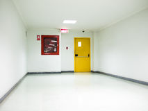 Building Emergency Exit with Exit Sign on door Royalty Free Stock Image