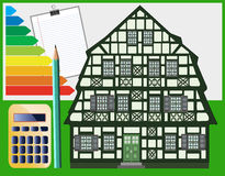 Building energy optimization. Measures for old and historic buildings must be planned exactly and can safe lots of money in the future Stock Image
