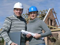 Building engineers Royalty Free Stock Images