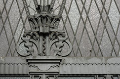 Building entrance door details in Sao Paulo. SAO PAULO, SP, BRAZIL -  APRIL 4, 2015 - Building entrance door details of the old Court of Justice in Sao Paulo Royalty Free Stock Image