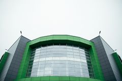 Building entrance, modern mall. Modern glass building entrance, modern mall center Royalty Free Stock Images