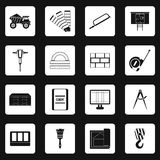 Building equipment icons set, simple style Royalty Free Stock Photography