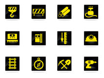 Building equipment icons set Royalty Free Stock Photography
