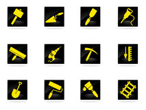 Building equipment icons set Royalty Free Stock Image