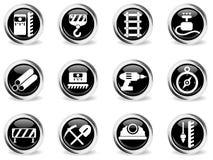 Building equipment icons set Stock Photos