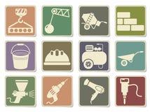 Building equipment icons set Stock Image