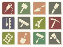 Building equipment icons set Stock Images