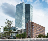 Building of european central bank ECB in Frankfurt Royalty Free Stock Images